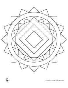 Mandala Coloring Page For Kids