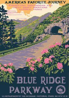 Google Image Result for http://retrorenovatio.wpengine.netdna-cdn.com/wp-content/uploads/2007/12/blueridge-parkway-vintage-posters.jpg #vintagetravelposters