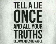 The value of honesty.....
