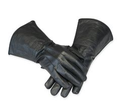 Get a grip! Our Durable Black Leather Gauntlets are perfect for piloting your personal mode of conveyance be it on horseback, on velocipede, or with steam-powered jet pack.