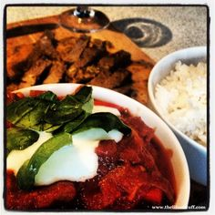 Jamie Oliver's - Grilled Steak Ratatouille and Saffron Rice - Recipe with Photo's