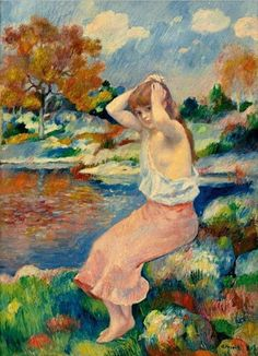 View La toilette by Pierre-Auguste Renoir on artnet. Browse upcoming and past auction lots by Pierre-Auguste Renoir. Pierre Auguste Renoir, Renoir Paintings, Impressionist Paintings, August Renoir, Summer Landscape, French Artists, A4 Poster, Oil On Canvas, Design Art