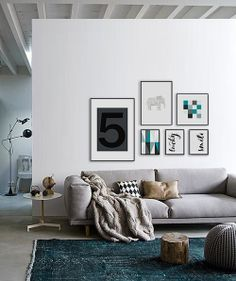 Wonderful prints for your livingroom! Graphic and typography and a cute origami elephant