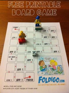Printable LEGO games at All for the Boys