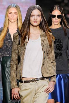 Start shopping for fall now: Strong silhouettes, statement jackets, and luxurious accessories top our list (as seen at Yigal Azrouel, Theyskens' Theory, and Prabal Gurung) Nyc Fashion, Diva Fashion, Autumn Fashion, Fashion Trends, Fashion Tips, Boyish Outfits, Fall Outfits, Expensive Dresses, Weather Wear