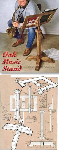 Build Music Stand - Woodworking Plans and Projects | WoodArchivist.com