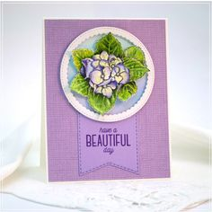 From rough sketch to finished card - have a beautiful day card - a tutorial - Debbie Olson