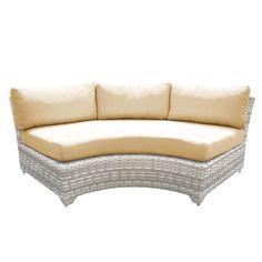 Catamaran Outdoor Patio Curved Wicker Sofa (Set of 2) (Honey), Grey, Size 2-Piece Sets, Patio Furniture (Acrylic)