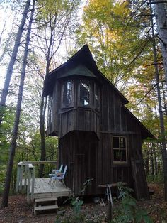 Zinta Aistars' tiny cottage on the back of her 10 acres in southwest Michigan. (LOVE)