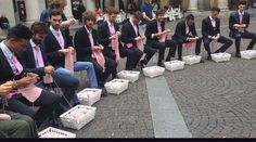 Flashmob tricot à Milan