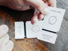 creative minimalistic business cards