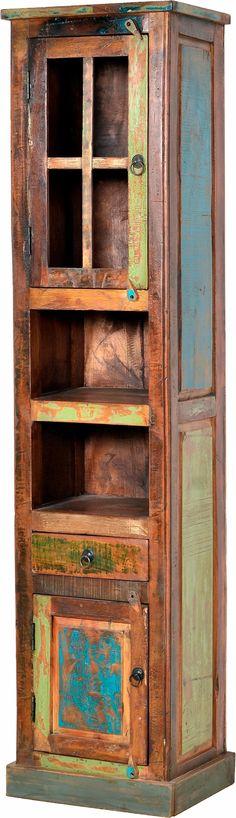 Hochschrank Aliane - Eiche Panama Dekor\/Bunt - Eiche Antik Dekor - küche farben ideen