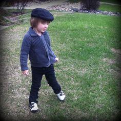 Little boy style. Hat:SourPuss, Sweater: Mexx, Pants: HM, Shoes: Ralph Lauren