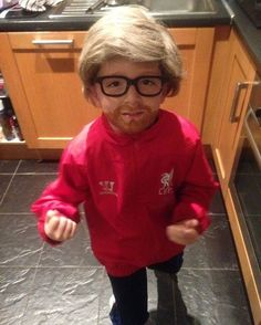 This little lad went to school dressed as Klopp little legend #LFC
