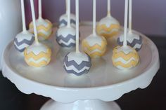 Chevron Cake Pops by Sweet Lauren Cakes, via Flickr
