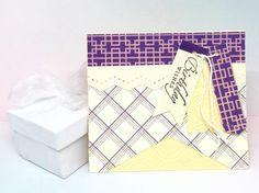 Birthday Card - Handmade Birthday Card  - Happy Birthday Card - Paper Handmade Greeting Card - Purple Birthday Card Best Friend - Note Cards by byLisaCardsCrafts on Etsy