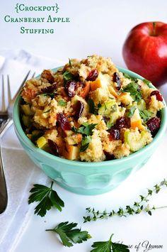{Crockpot} Cranberry Apple Stuffing Recipe on Yummly. yummly #recipe
