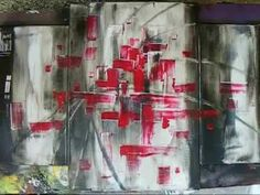 "Peinture abstraite ""Astrantia""- Abstract painting ""Astrantia"" - YouTube"