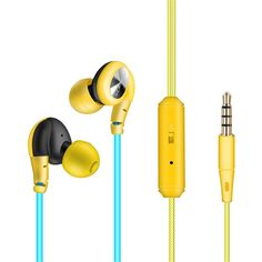 YIFAFESU In-Ear Earbuds Sweatproof Sport Earbuds headset Earphones Noise Isolating headphone earbuds with microphone (S800-yellow) >>> More info could be found at the image url. (This is an affiliate link and I receive a commission for the sales)