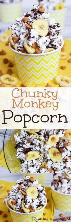 Chunky Monkey Popcorn recipe / Running in a Skirt