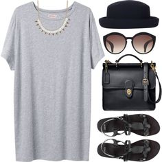 Untitled #782 by london-wanderlust on Polyvore featuring Organic by John Patrick, ASOS, Coach, Topshop, summer, fancy and casual