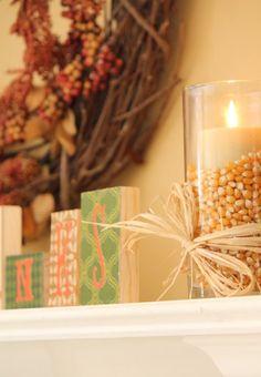 Use unpopped popcorn as filler for vases.