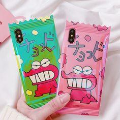 "Pink/Green Cute Cartoon IPhone Case SE11203 Use code "" eminahrvic "" get 10% off at www.sanrense.com"