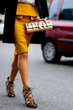 55 Street Style Snaps to Inspire Your Summer Shoe Wardrobe - sexy lace-up heels  | StyleCaster