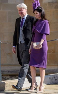 Earl Charles Spencer & Karen Spencer from Meghan Markle and Prince Harry's Royal Wedding Guests  Princess Diana's younger brother and his wife coordinated in shades of purple.