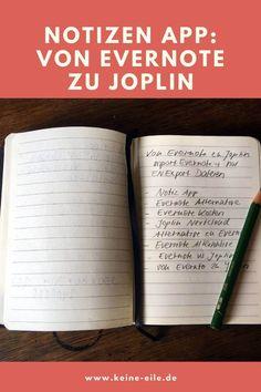 Notizen App: Von Evernote zu Joplin Lange Jahre war ich begeisterter Evernote Nutzer. Die Notizen App hat für mich eigentlich nur einen Haken. So groß, dass ich nun von Evernote zu Joplin gewechselt bin. #papierlosesbüro #organisation