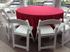 Corporate luncheon #Atlanta #rental #white #resin #chair #table #linen #luncheon #Atlanta #corporate #event #party #planner Table Linen Rentals, Table Linens, Corporate Event Planner, Corporate Events, Atlanta, Chairs For Small Spaces, Reception Seating, Chiavari Chairs, Resin