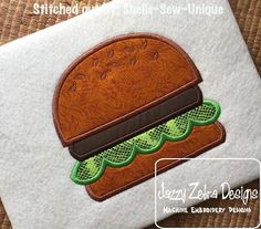 Hamburger Applique Design