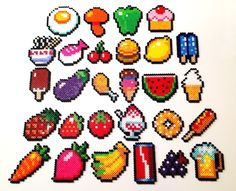 Food hama perler beads
