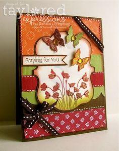 Praying for You Card by Sankari Wegman #Cardmaking, #Sympathy