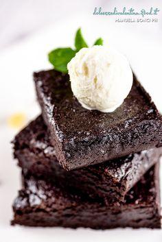 Brownies e gelato allo zenzero
