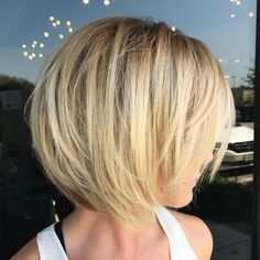Sassy Feathered Blonde Bob