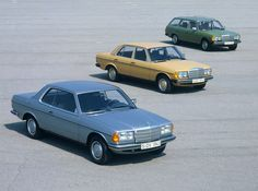 2012 Germany: Most Popular Oldtimer Classic Cars - the Mercedes W123 is second only to the VW Käfer (Beetle).