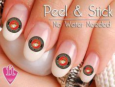 United States Marine Nail Art Sticker Set by Nail Art Stickers, Nail Decals, Marine Nails, Marine Mom, Marine Corps, Us Nails, Custom Decals, You Nailed It, Nail Polish