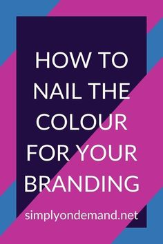 Every colour has its own bit of psychology attached to it. Understanding the psychology behind colours allows you to better set up your visual brand and design accordingly. #SimplyOnDemand #CreativeDesign #VisualDesign