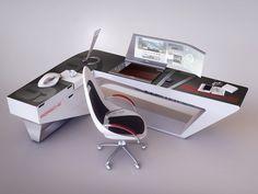 Modern desk design by Encho Enchev | Sci-Fi | 3D | CGSociety
