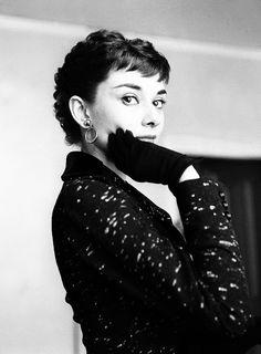 Audrey Hepburn, c. 1954.