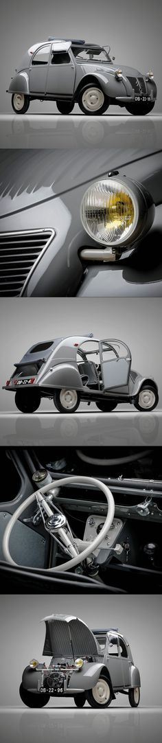 1948 Citroën 2CV / ripple bonnet / France / grey white / photography: Pedro Mota / 17-318