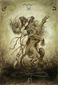 Luis Royo - The Labyrinth Tarot - Major Arcana: Strength