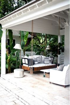 Oversized outdoor couch swing
