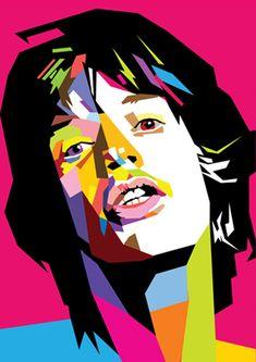 Mick Jagger in WPAP by wedhahai.deviantart.com on @deviantART
