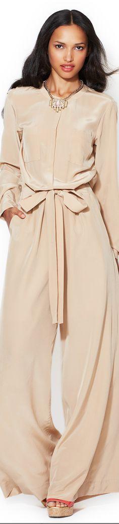 Blush Silk Pantsuit By Rachel Roy -  Flowy Feminine Chic