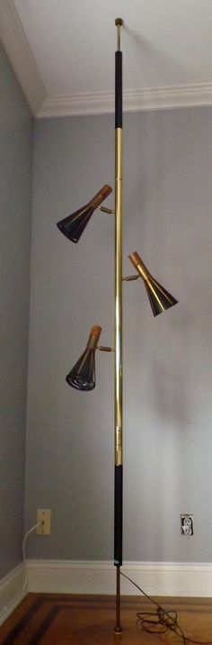mid century MODERN TENSION LAMP by Raymond LOEWY - $295 -still in my parents livingroom, they probably paid $20 tops.