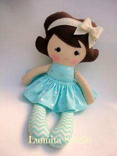 Handmade cloth doll,Girl gift,Ragdoll,Cloth doll,Fabric doll...Eco-Friendly Doll... sweet ragdoll. by lunnitastudio on Etsy https://www.etsy.com/listing/213360069/handmade-cloth-dollgirl-giftragdollcloth