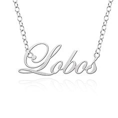 New Mexico Lobos Cutout Script Necklace * Check out this great product.