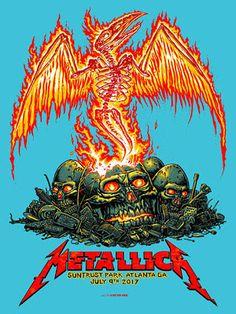Metallica Atlanta 2017 poster by Munk-One